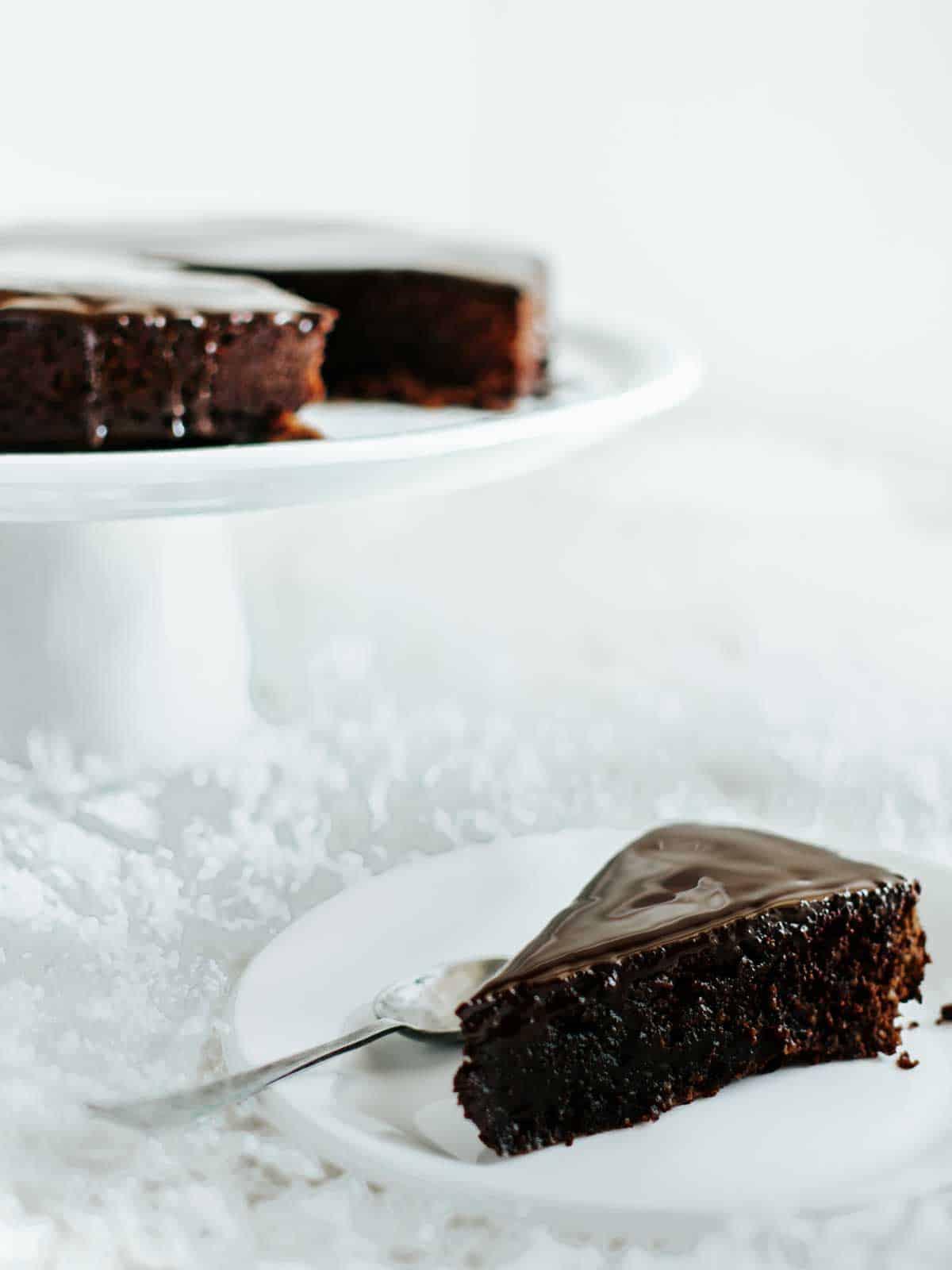 Moist Dark Chocolate Cake