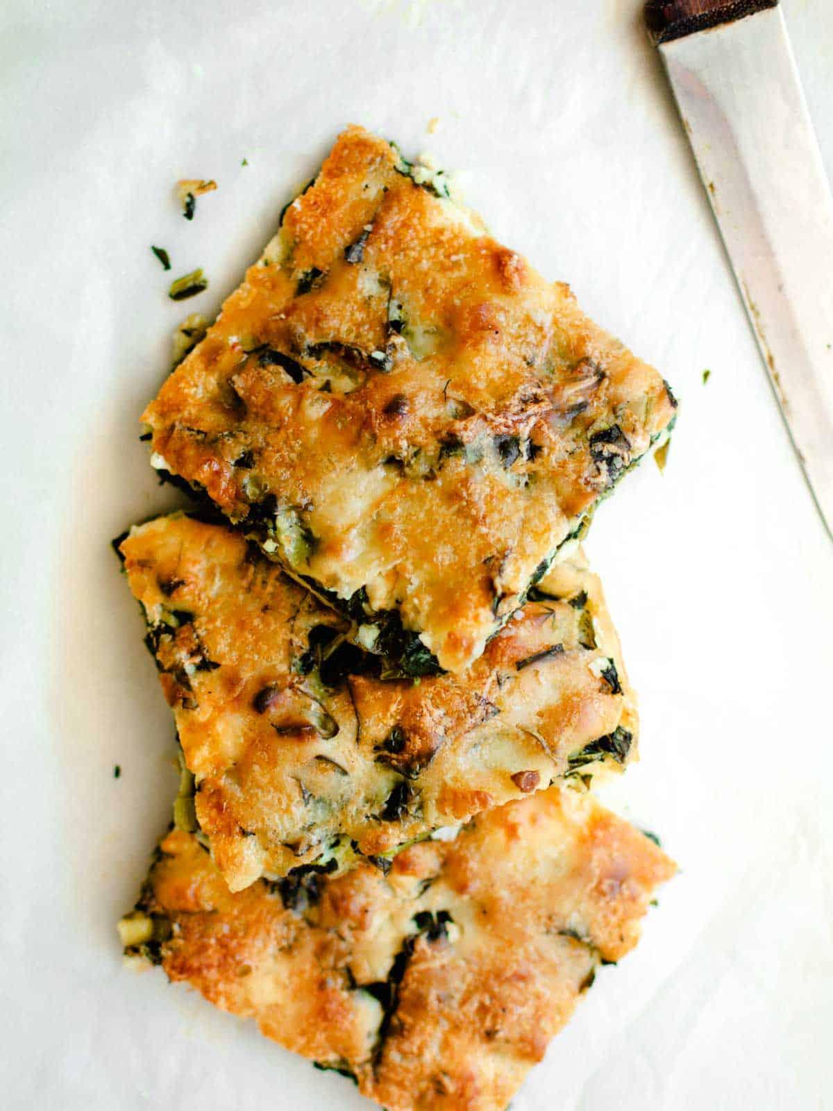 No Crust Spinach Pie