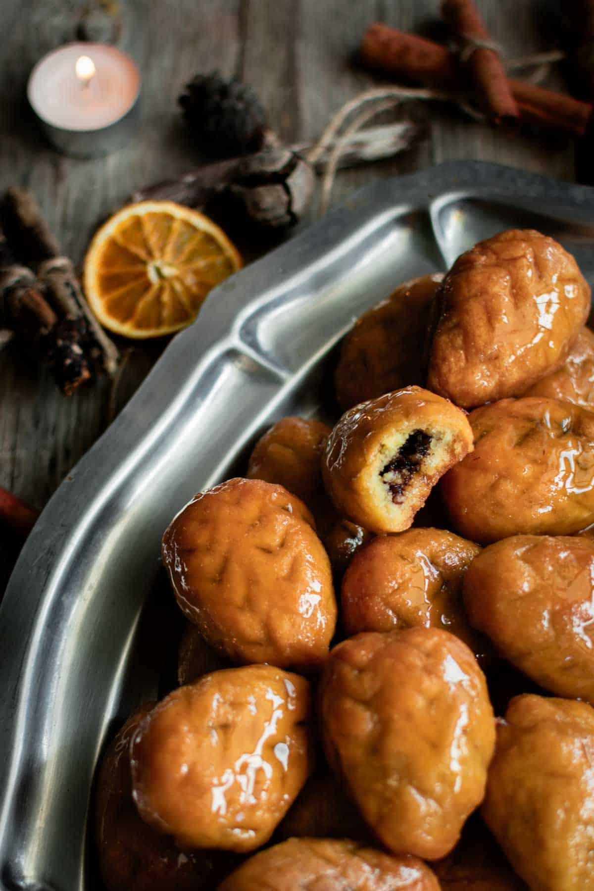 Walnut Filled Greek Christmas Cookies