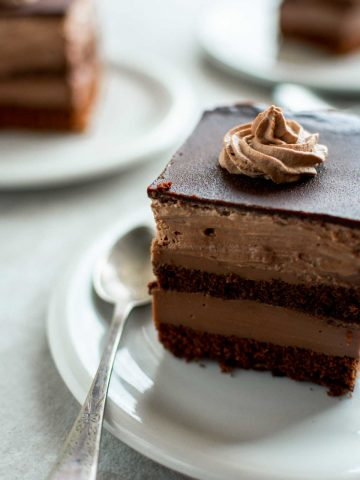 Chocolate Cake With Custard Filling