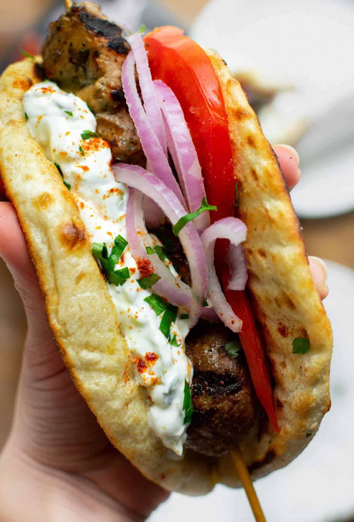 Greek Pork Souvlaki Wraps
