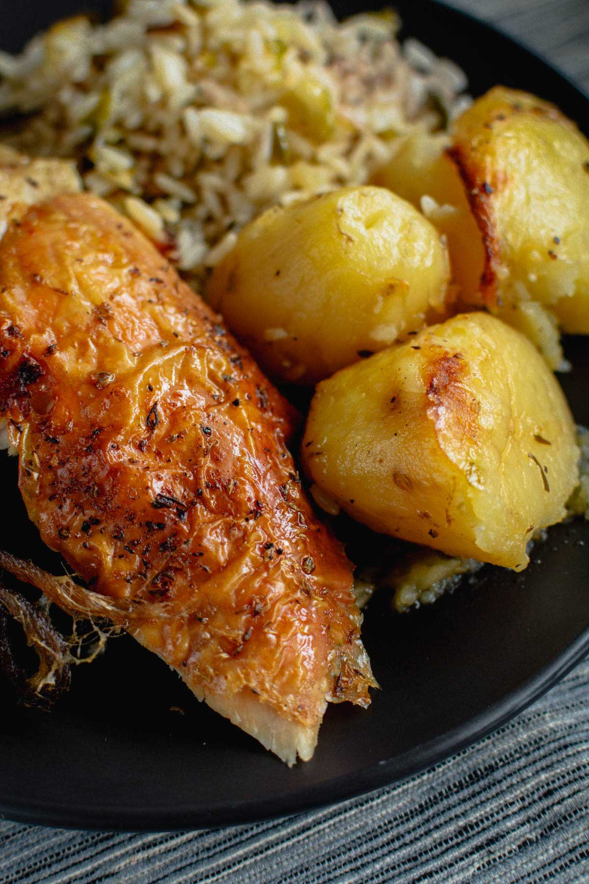 Stuffed Chicken With Leek Rice