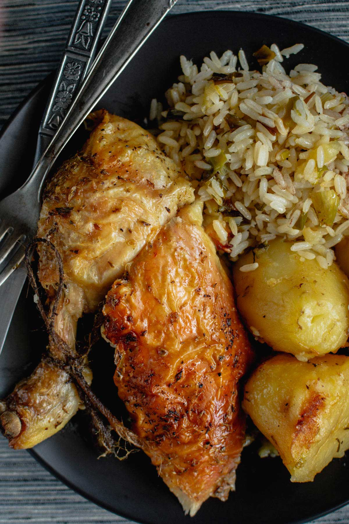 Stuffed Whole Chicken With Rice