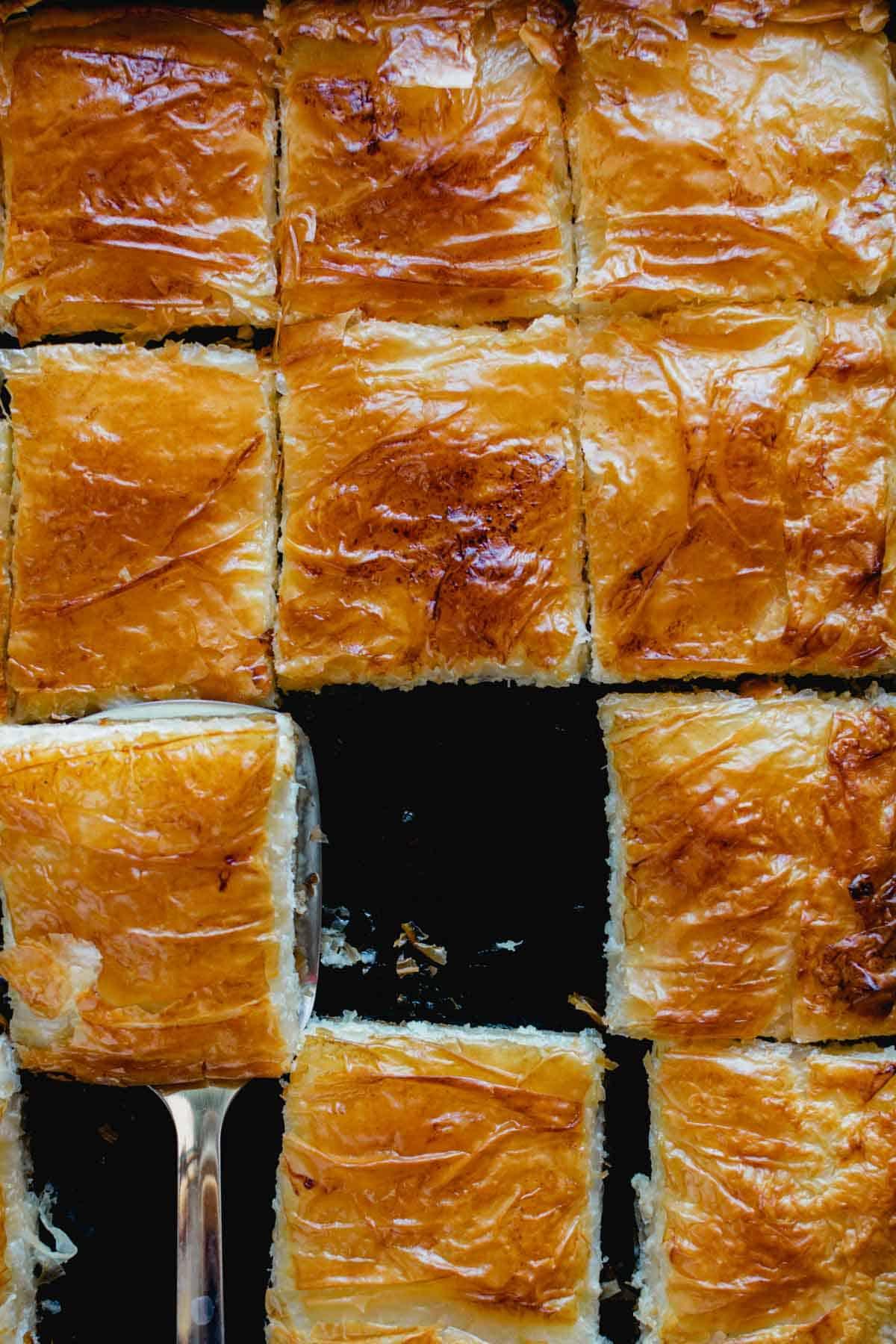Sheet Pan Feta Cheese Pie