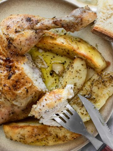 Baked Greek Chicken And Potatoes