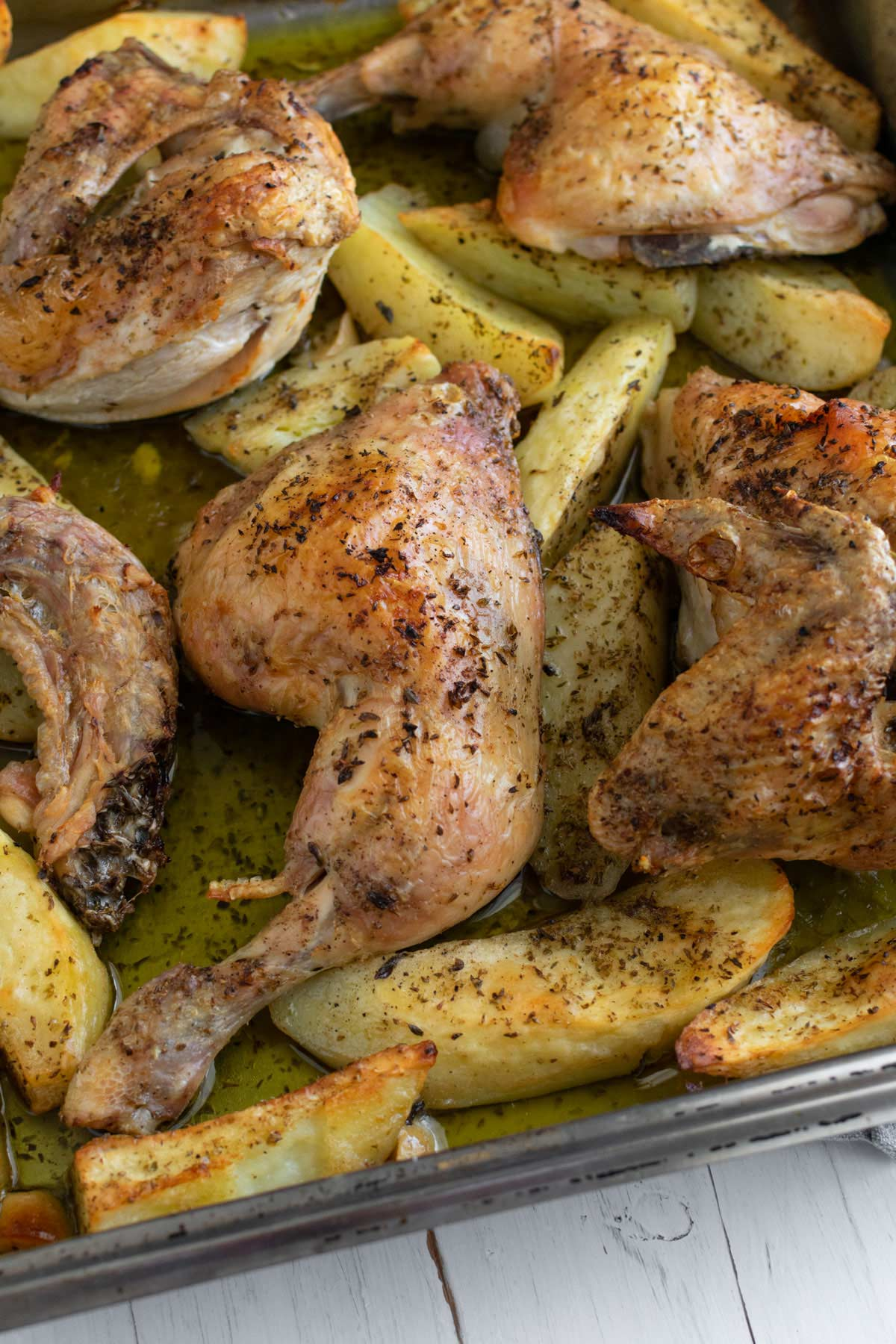 One Pan Chicken Baked With Potatoes